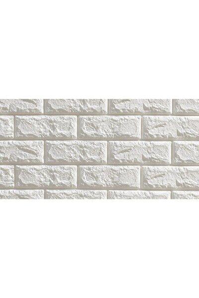 Renkli Duvarlar 70x23cm 0,16m2 Kendinden Yapışkanlı Duvar Paneli 3d Duvar Kaplama Nw01 Beyaz 6,5mm