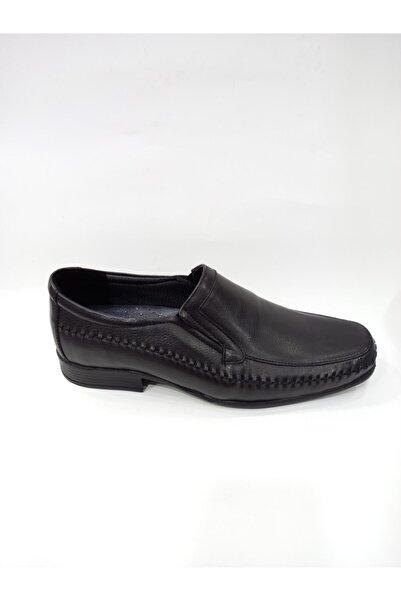 Modesa 150 Siyah Hakiki Deri Ortopedik Poli Taban Erkek Günlük Ayakkabı