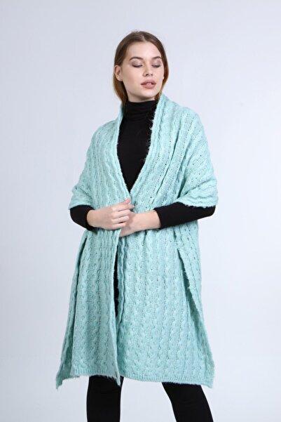 uniq store Kadın Mint Uzun Atkı Model-105