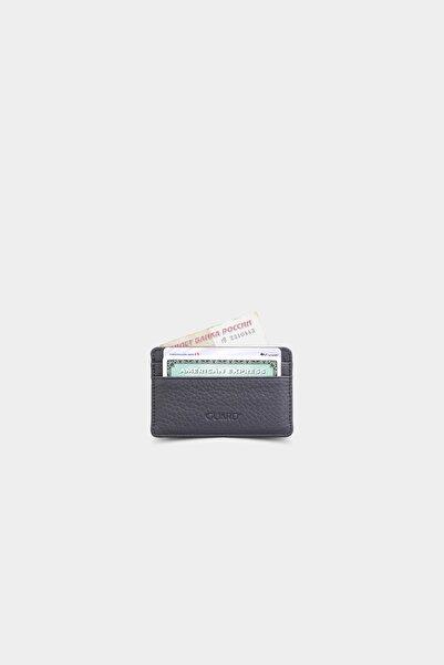 GUARD Ultra Ince Unisex Siyah Minimal Deri Kartlık