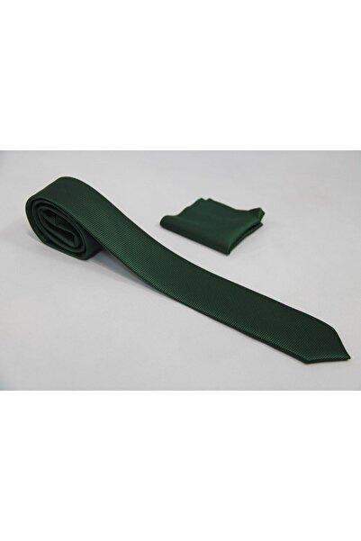 Final Ticaret Erkek Koyu Yeşil Desenli Kravat Tuğ00