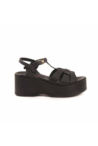 ROUGE Deri Dolgu Topuklu Kadın Sandalet 97204
