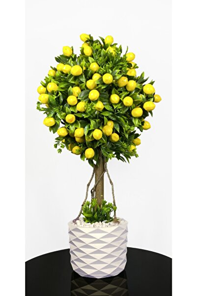 BİÇİÇEK Yapay Limon Ağacı 75cm 150 Adet Meyveli
