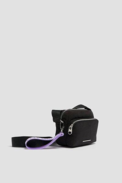 Pull & Bear Logolu Naylon Çapraz Askılı Mini Çanta