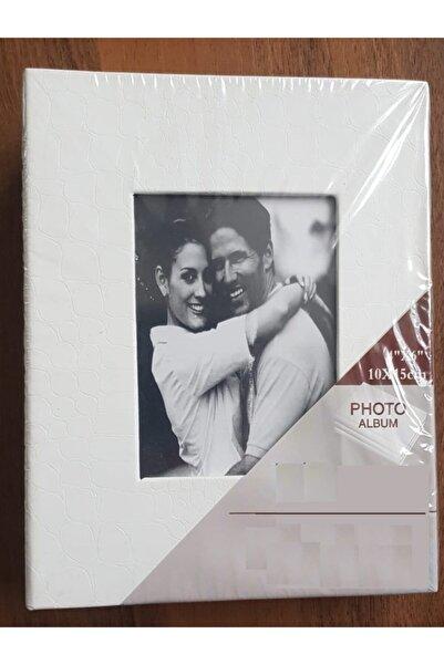 Vural Foto Baskı 200lü 10x15cm Fotoğraf Albümü Beyaz - Deri Kaplı Foto Pencereli - Aile Resimleri Için Album