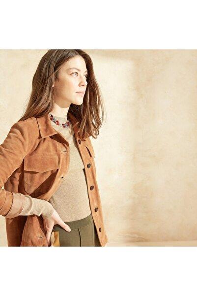 Yargıcı Kadın Süet Gömlek Ceket