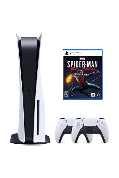 Sony Playstation 5 825 GB + 2. PS5 DualSense + PS5 Marvel's Spider-Man: Miles Morales