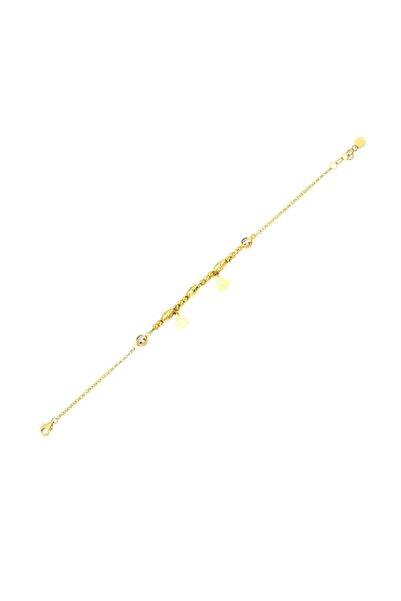 Siena Kadın Altın 14 Ayar Taşlı Zincir Bileklik.