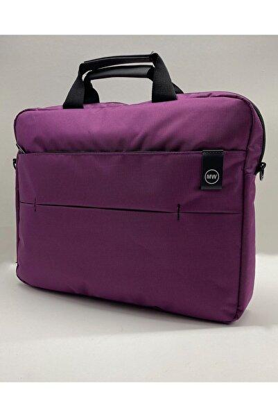 """Moda West Mor West Serisi 15.6"""" Inç Evrak Bilgisayar Notebook Laptop Çantası"""