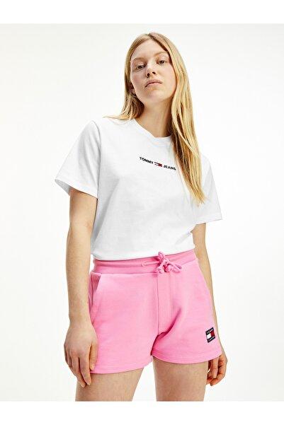 Tommy Hilfiger Kadın Beyaz T-Shirt Tjw Lınear Logo Tee DW0DW10057