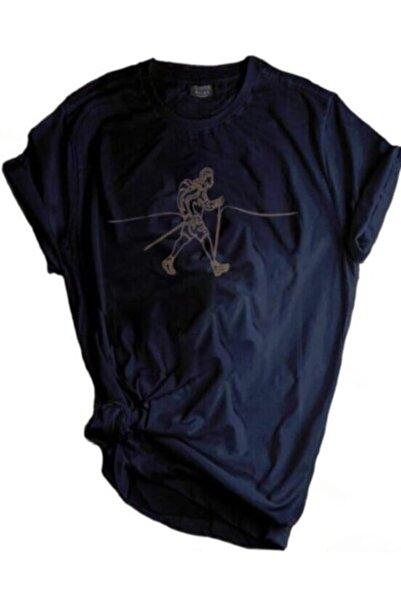 GENIUS Unisex Store Lacivert Outdoor Baskılı T-shirt