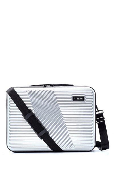 BİXOMİ Plus Unisex 15,6 Inc Kırılmaz Suya Dayanıklı Laptop-evrak Çantası Parlak Metalik