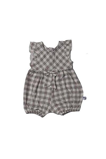 Veo Baby Kız Çocuk Kareli Salopet Tulum