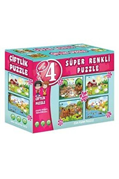 Çiftlik Süper Renkli Puzzle