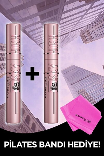 Maybelline New York Lash Sensational Sky High Maskara 2'li Set + Pilates Bandı