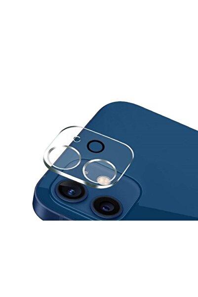 Telehome Iphone 12 Uyumlu Kamera Koruyucu 9d Kırılmaz Cam Lens Koruma