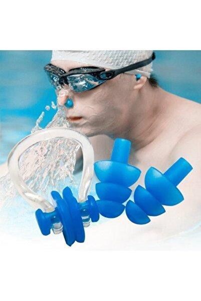CMT 2 Li Set Yüzücü Kulak Tıkacı+ Burun Tıkacı Deniz Havuz Yüzme Tıkaç Seti Takımı