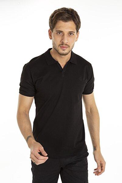 CMBCOMBİNE MİCHAİL Siyah Renk V Yaka Polo Tshirt 1002
