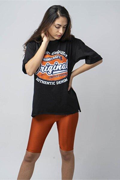 CNS Vintage Baskılı Salaş T-shirt