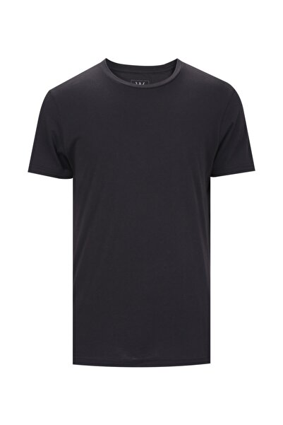 W Collection Erkek Siyah Basic T-shırt