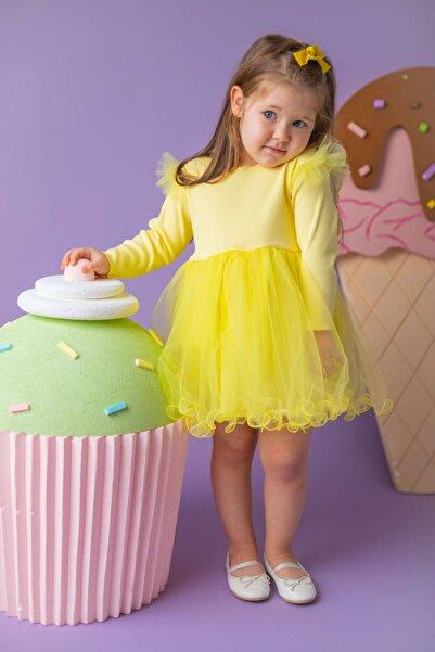 Little Honey Bunnies Sarı Kanatlı Elbise