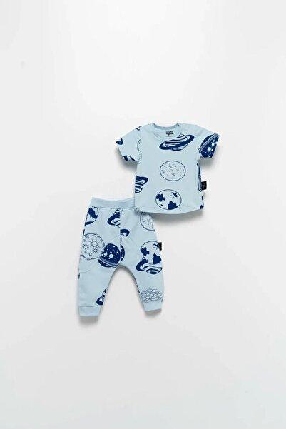 Moi Noi Erkek Bebek Mavi Desenli Takım