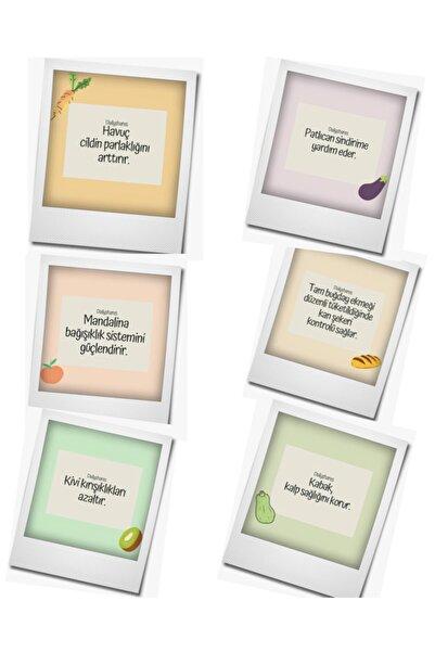 Express Magnet Buzdolabı Magneti 6'lı Sağlıklı Meyveler Serisi
