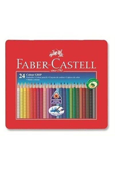 Faber Castell Faber-castell Grip Boya Kalemi 24 Renk Metal Kutu 2001 4170112423000