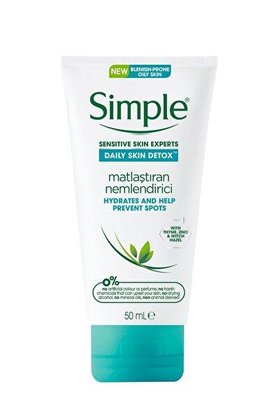 Simple Daily Skin Detox Yağlı/Karma Ciltler İçin Kekik Özlü Matlaştıran Nemlendirici 50 ml