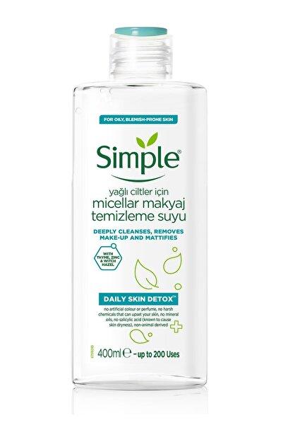 Simple Daily Skin Detox Yağlı/Karma Ciltler İçin Micellar Makyaj Temizleme Suyu 400 ml