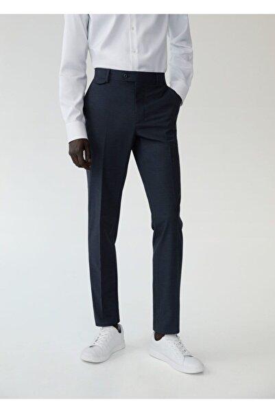 MANGO Man Dar Kesim Yünlü Takım Pantolon
