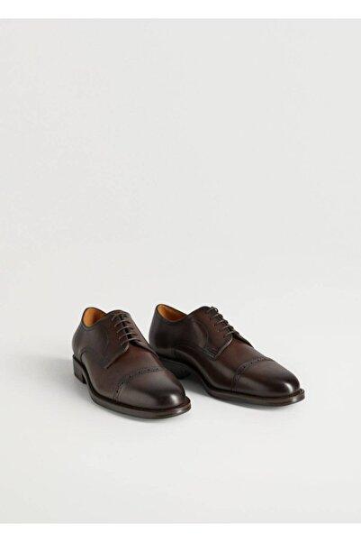 MANGO Man Lazer Kesimli Blucher Ayakkabı