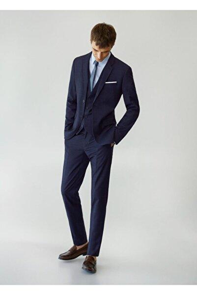 MANGO Man Süper Dar Kesim Kareli Tailored Pantolon