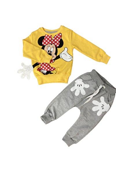 Disney Mickey Mouse Kız Çocuk Sarı Eşofman Takım