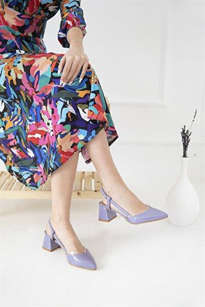 STRASWANS Kadın Lila Roy Rugan Topuklu Ayakkabı