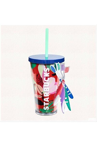 Starbucks Pipetli Tasarım Bardak Termos (1adet Ithal Opalescence Dişfırçasıhediyeli)