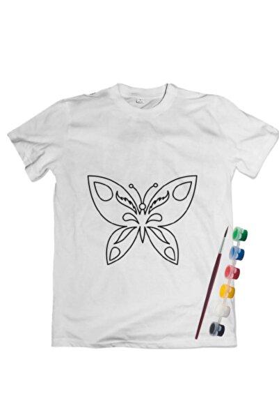 Joy and Toys Kelebek Desenli T-shirt Boyama Seti 10-11 Yaş Çocuk Aktivite