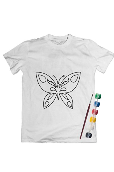 Joy and Toys Kelebek Desenli T-shirt Boyama Seti 4-5 Yaş Çocuk Aktivite