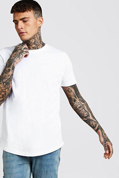 XHAN Beyaz Bisiklet Yaka T-shirt 1kxe1-44750-01