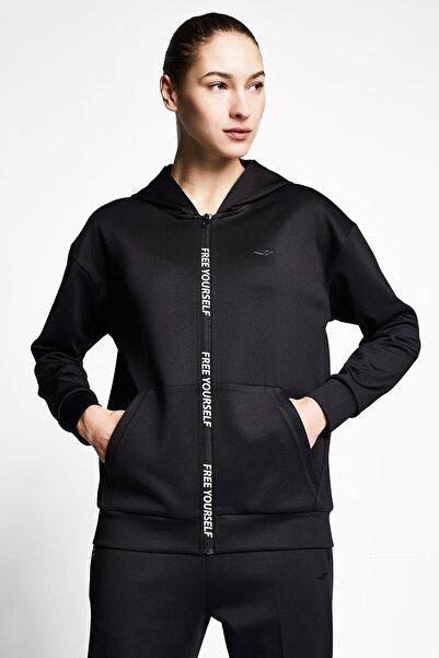 Lescon Kadın Fermuarlı Kapüşonlu Sweatshirt