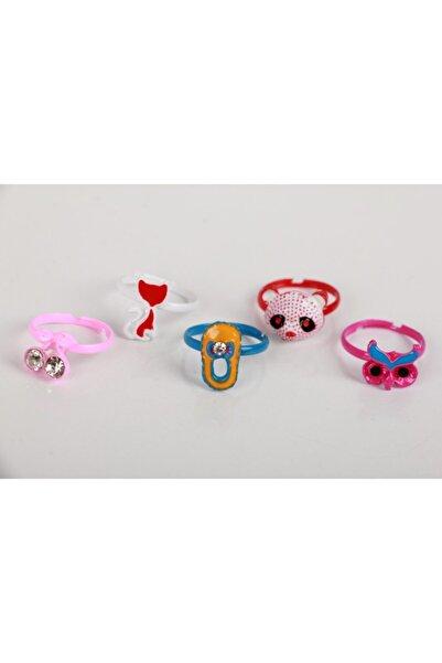 SeaBubbles Kız Çocuk Yüzük Renkli 5li Set (pabuç-panda-baykuş-kedi-kiraz)