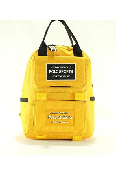 MY POLO Gmdorka Okul Seyahat Spor Günlük Sırt Çantası Sarı