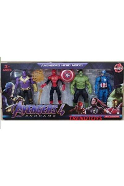 AVENGERS Yenilmezler Thanos Hulk Örümcek Adam 4 Lü Set