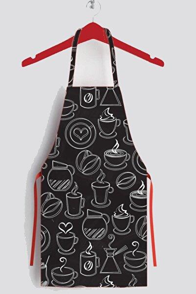 AYSHOME Siyah Coffee Leke Tutmaz Mutfak Önlüğü