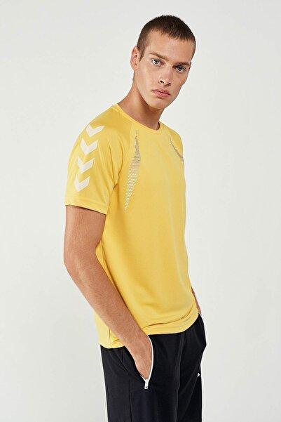 HUMMEL Erkek Sarı Jeromo Kısa Kollu Tişört