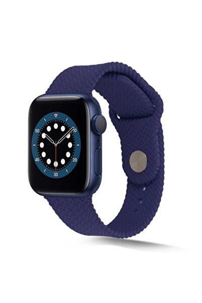 zore Apple Watch 44mm Krd-37 Silikon Kordon Lacivert