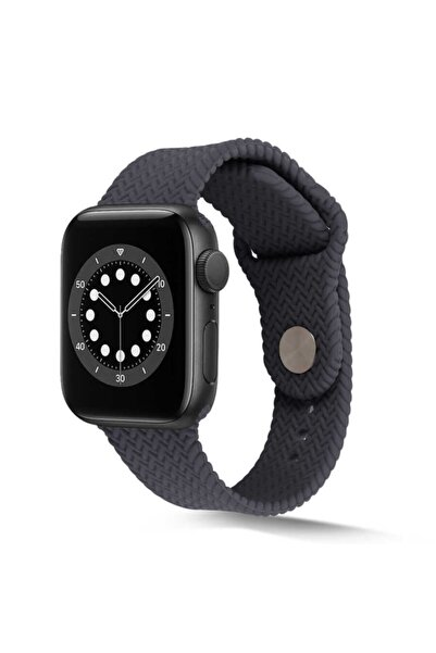 zore Apple Watch 44mm Krd-37 Silikon Kordon Gri