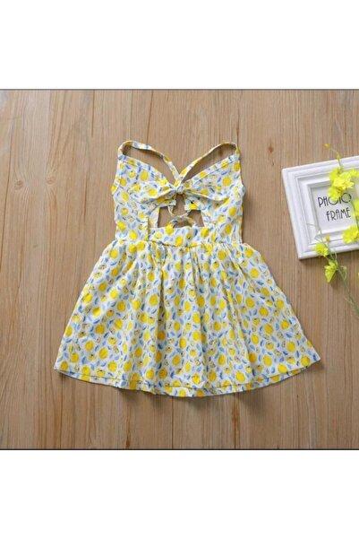 babiesbitty Kız Bebek Tasarım Moda Dekolteli Desenli Elbise