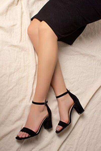 D0212 Kadın Klasik Yüksek Topuklu Tekbant