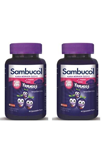 Sambucol Plus Kids Yummies 60 Çiğnenebilir Jelibon 2'li Set